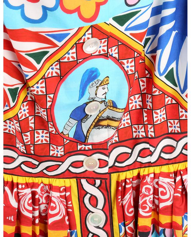 Robe à bretelles boutonnée imprimée Carretto DOLCE & GABBANA