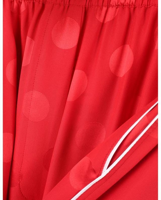 Pantalon large esprit pyjama en soie à pois DOLCE & GABBANA