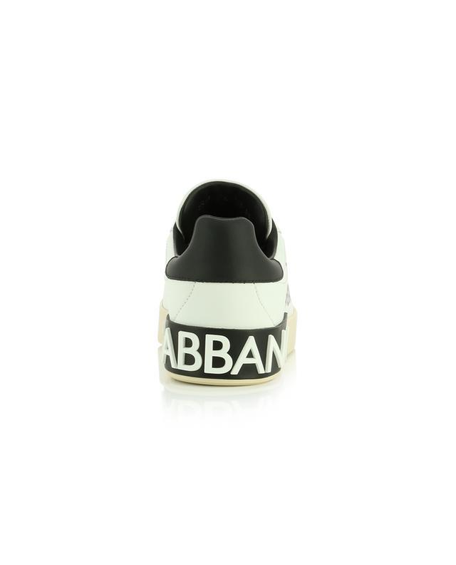 Niedrige Schnürsneakers aus Leder mit Logoprint Portofino DOLCE & GABBANA