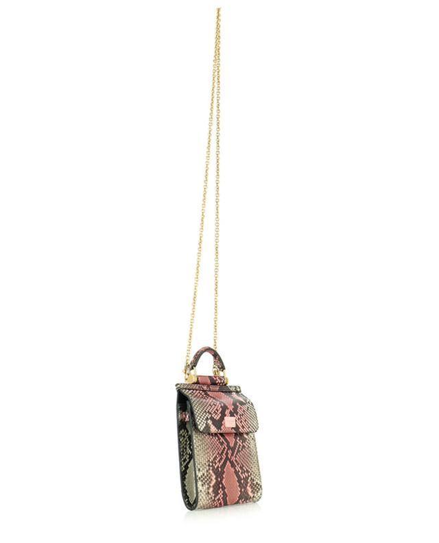 Micro-sac en cuir de python Sicily 58 Phone Bag DOLCE & GABBANA
