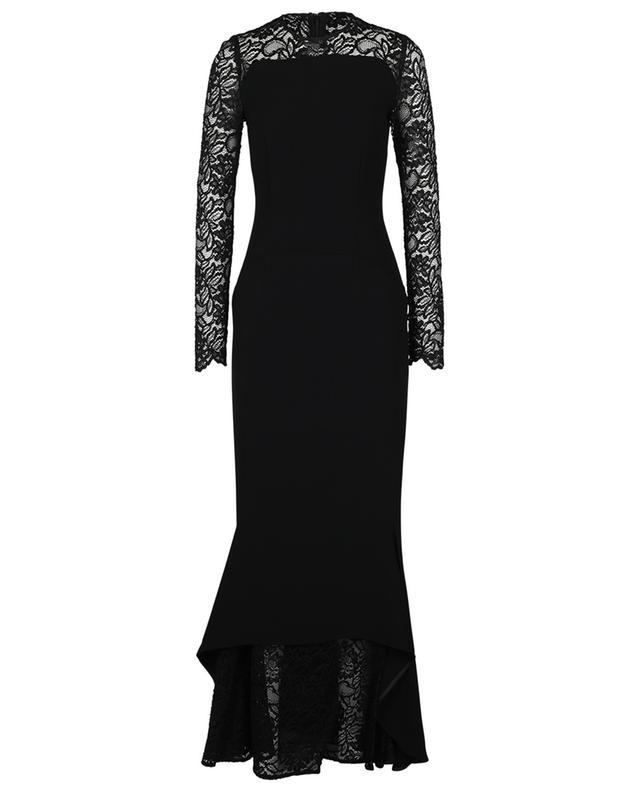 Lotsane long crepe and lace dress TALBOT RUNHOF