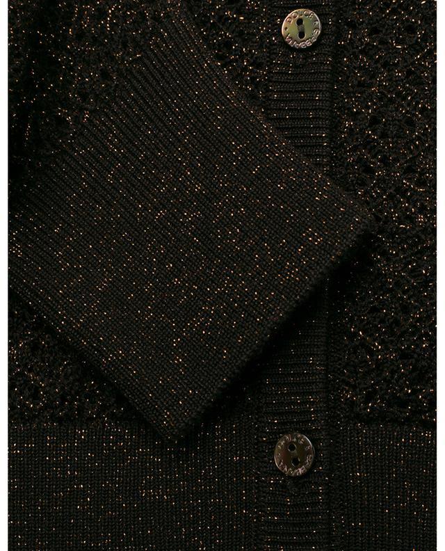 Cardigan boutonné en laine vierge et viscose DOLCE & GABBANA