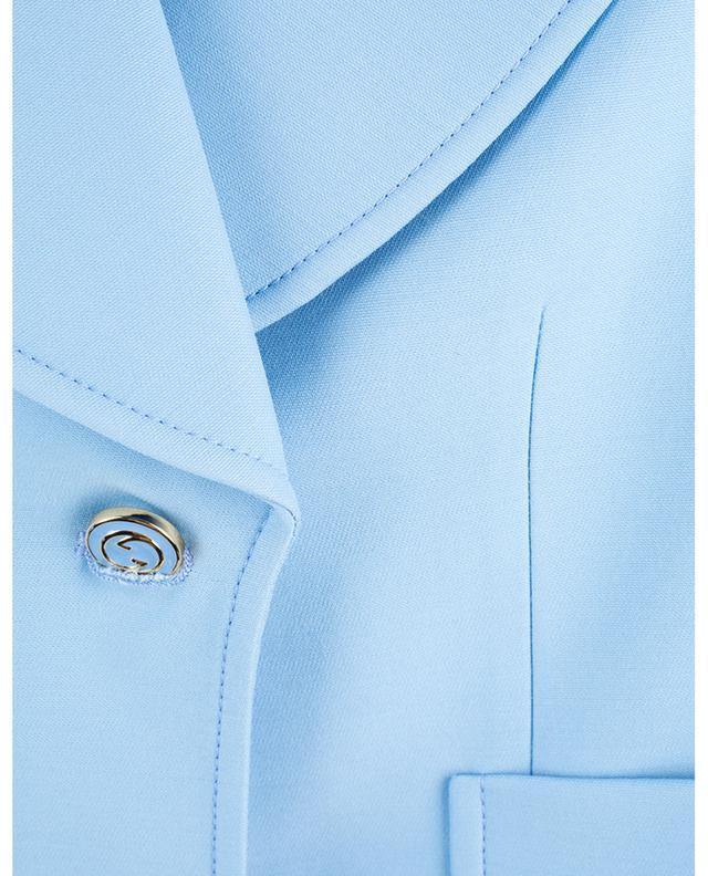 Veste courte en soie et laine mélangées GUCCI