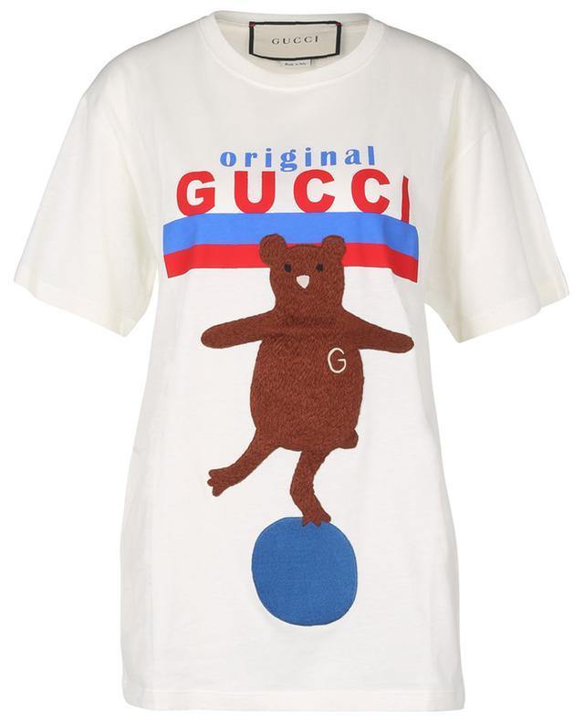 T-shirt en coton avec motif nounours GUCCI