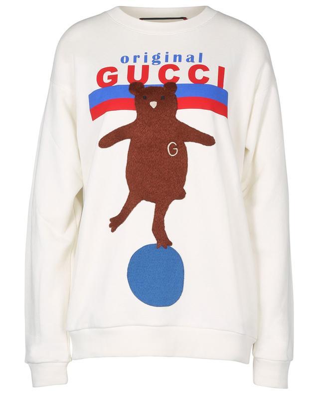Sweat-shirt oversize avec motif nounours GUCCI