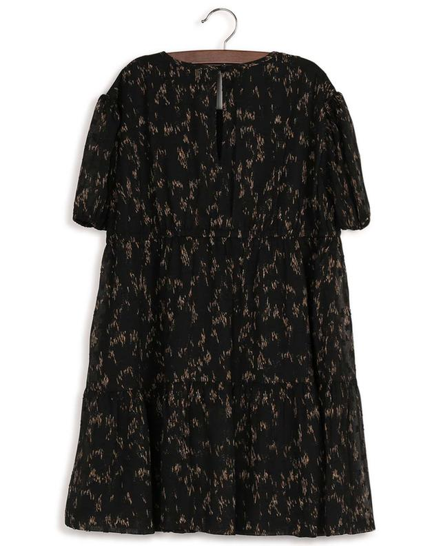Kiely loose tiered flounced dress in recycled material DESIGNERS REMIX GIRLS