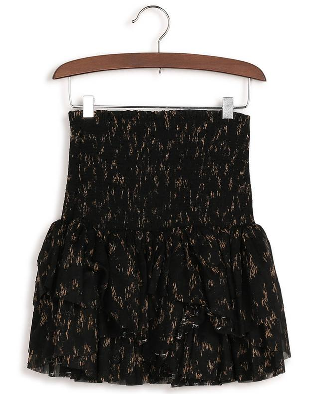 Kiely smocked ruffled miniskirt in recycled material DESIGNERS REMIX GIRLS