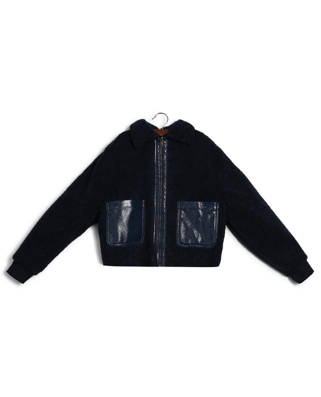 Igloo teddy jacket with patent details INDEE