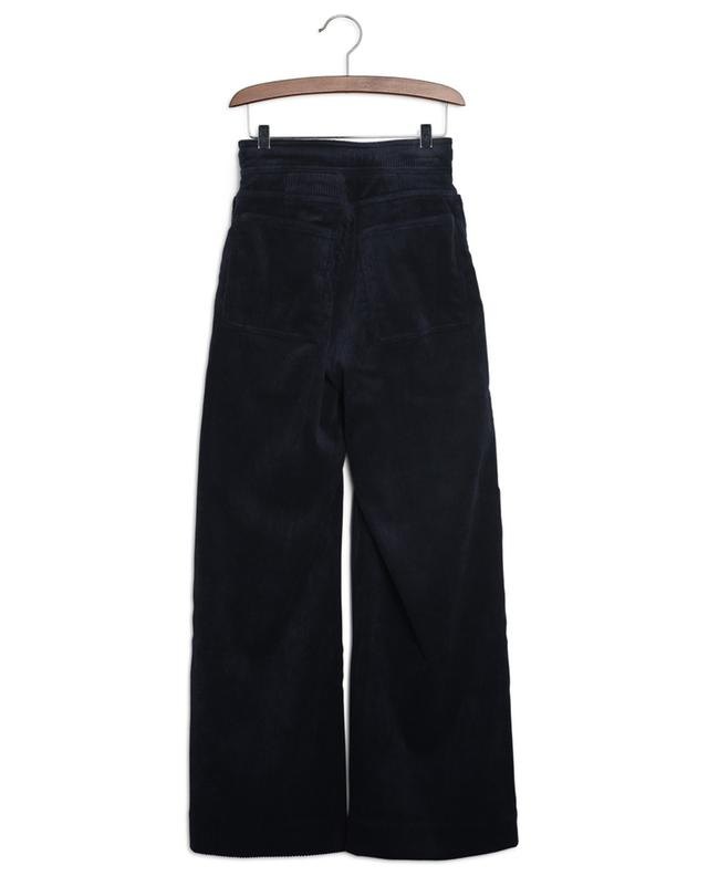 Identity high-rise wide-leg trousers in corduroy INDEE