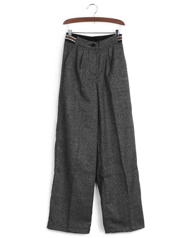 Idol check pleated trousers INDEE