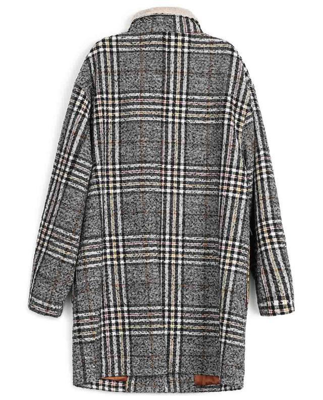 Manteau à carreaux avec fausse fourrure Iberico INDEE