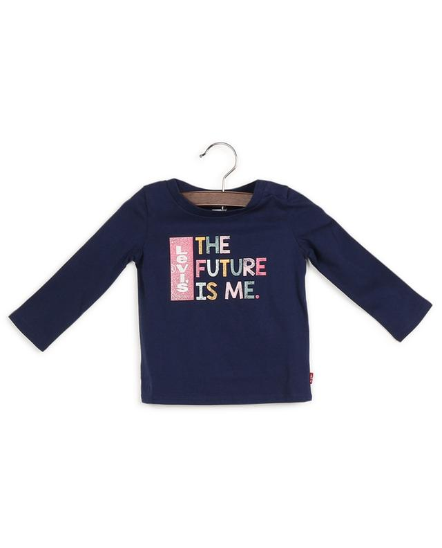 T-shirt en coton à manches longues imprimé logo LEVI'S KIDS