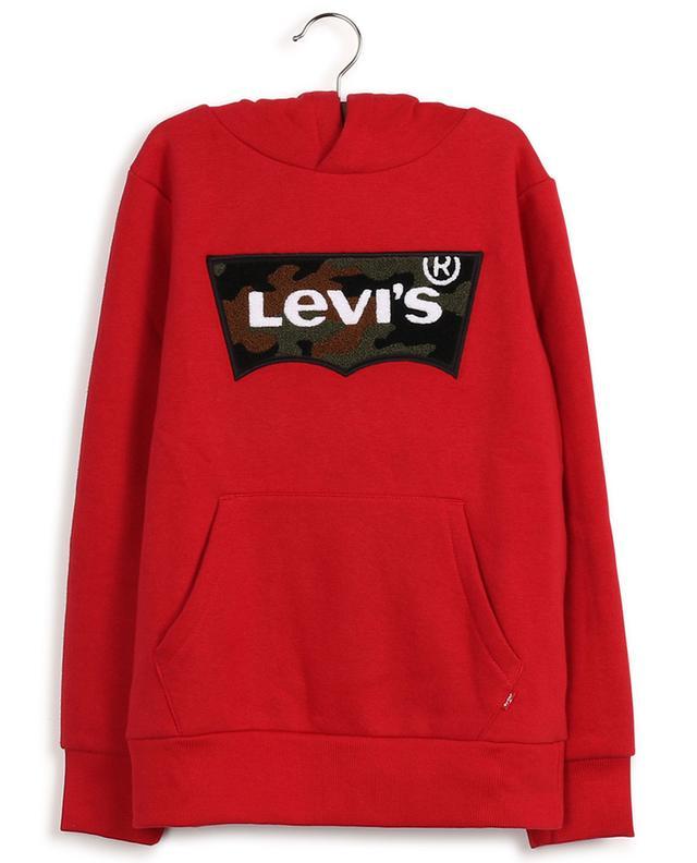 Pull à capuche en coton mélangé avec logo LEVI'S KIDS