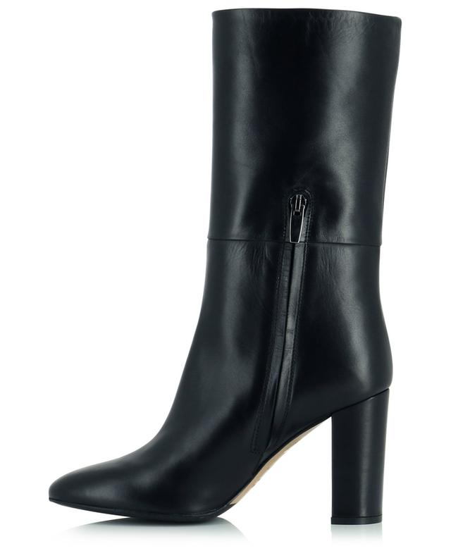 High-heeled leather boots with side zip BONGENIE GRIEDER