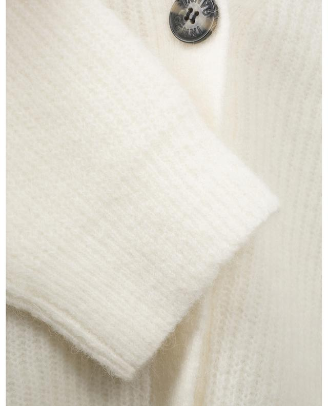 Cardigan boxy à col V en alpaga et laine GANNI