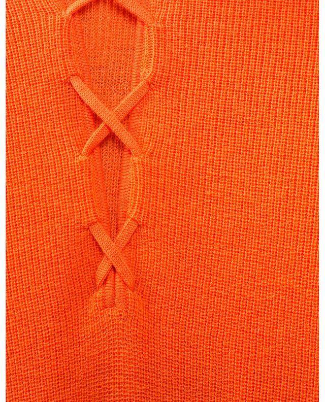 Pull chaussette côtelé à laçage GANNI