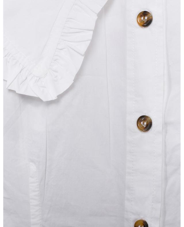 Chemise ajustée à col large en popeline GANNI