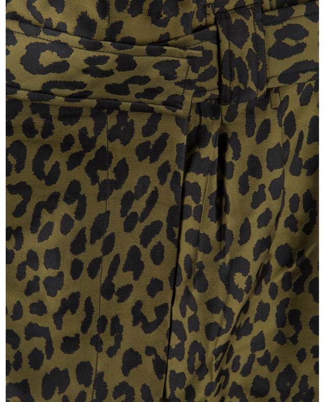 Leopard jacquard mini skirt GANNI