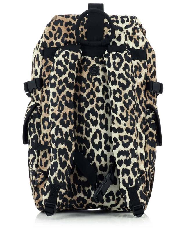 Sac à dos imprimé léopard en fibres recyclées GANNI
