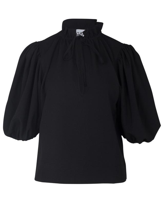 Heavy crepe puff sleeve blouse GANNI