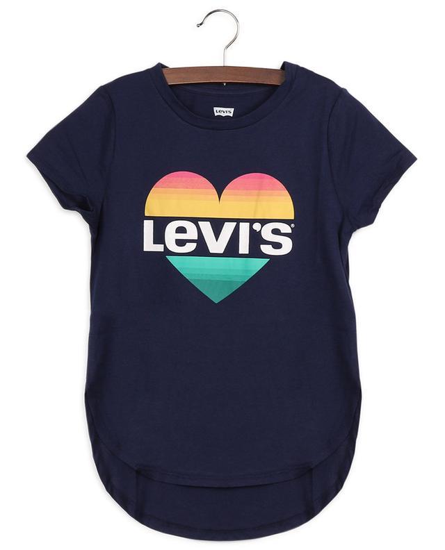 T-shirt en coton imprimé coeur et logo LEVI'S KIDS