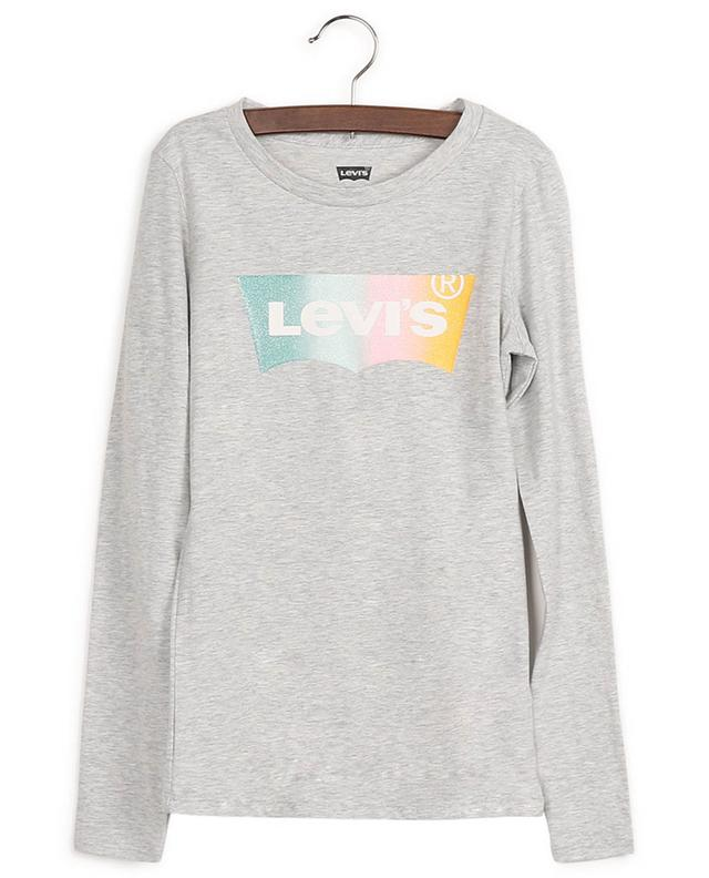Cotton-blend long-sleeve T-shirt with logo print LEVI'S KIDS