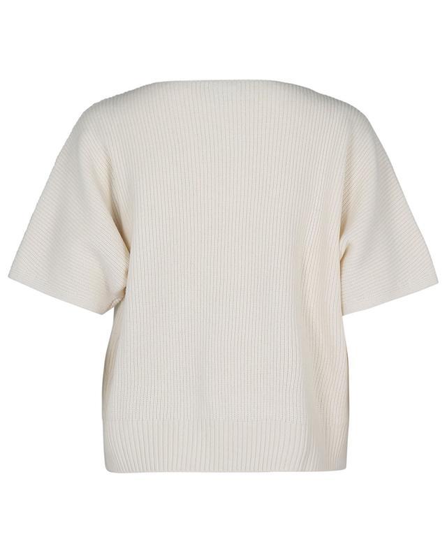 Pull boxy à manches courtes en laine et cachemire AKRIS PUNTO