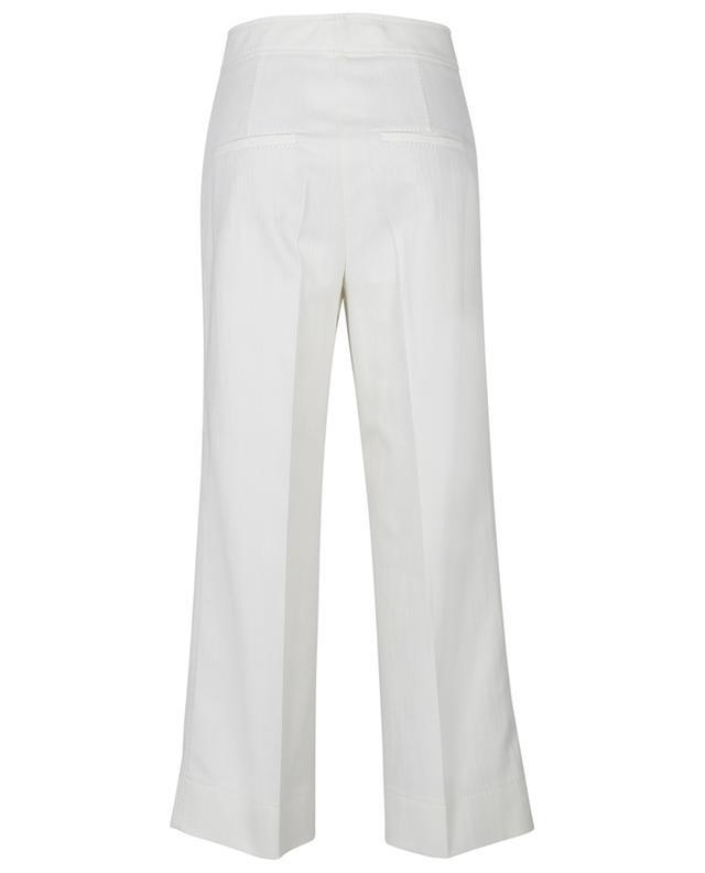 Jean large taille haute blanc Chieko AKRIS PUNTO
