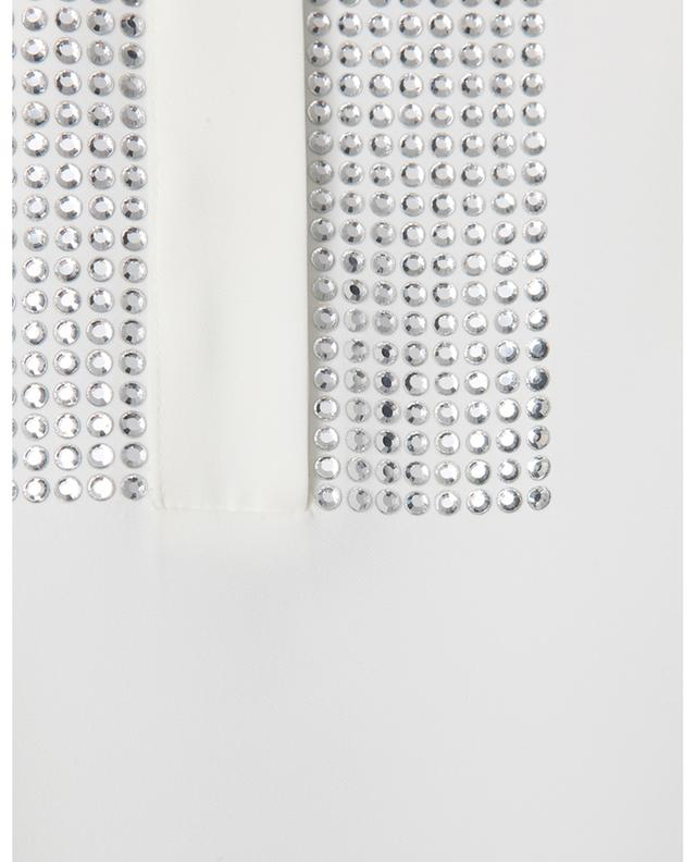 Top sans manches en crêpe orné de cristaux AKRIS PUNTO