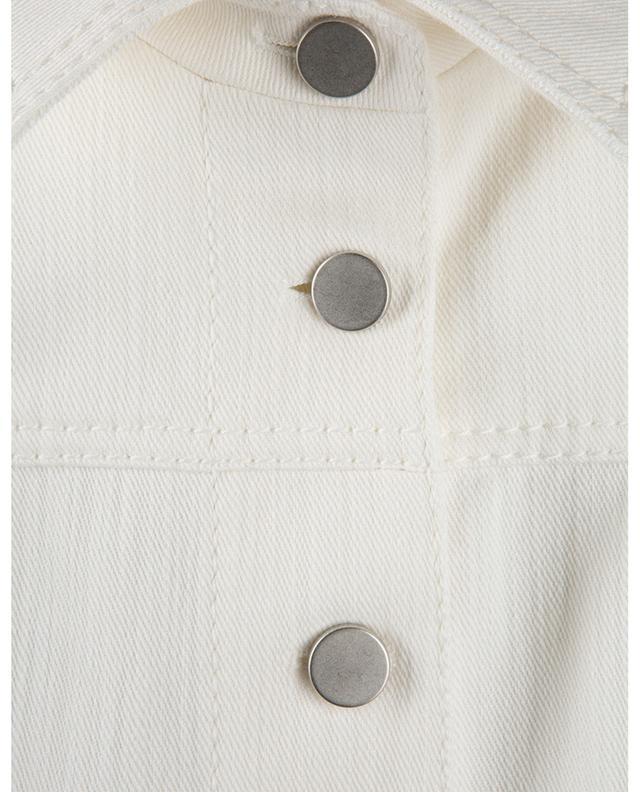Veste denim couleur crème à fermeture à boutons AKRIS PUNTO