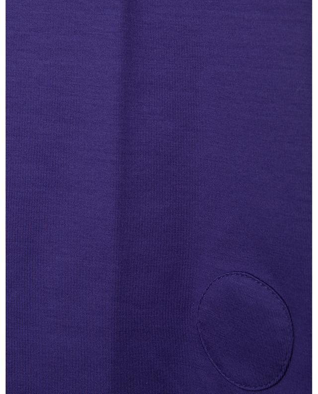 T-shirt ajusté à col carré en coton AKRIS PUNTO