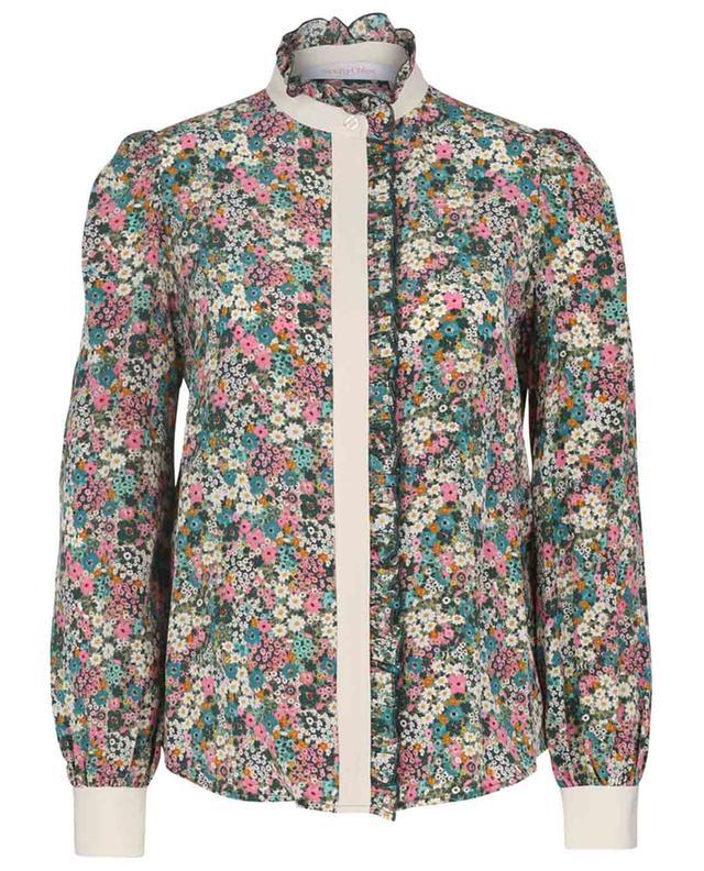 Seidenhemd mit Blütenprint Floral Meadow SEE BY CHLOE