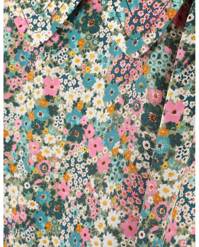 Kurzes ausgestelltes Kleid aus geblümter Seide Floral Meadow SEE BY CHLOE