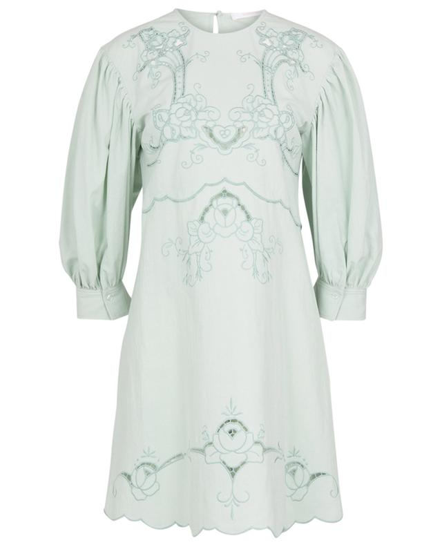 Mini robe trapèze en coton embellie de broderies anglaises SEE BY CHLOE
