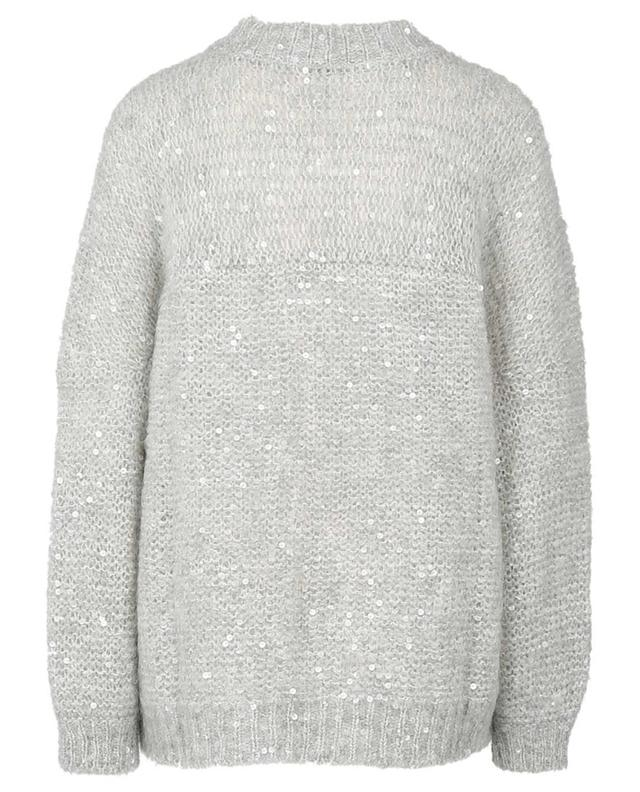 Dazzling Textures oversize mohair jumper with embroideries BRUNELLO CUCINELLI