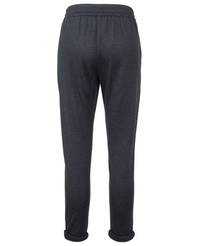 Pantalon de jogging en coton et soie mélangés BRUNELLO CUCINELLI