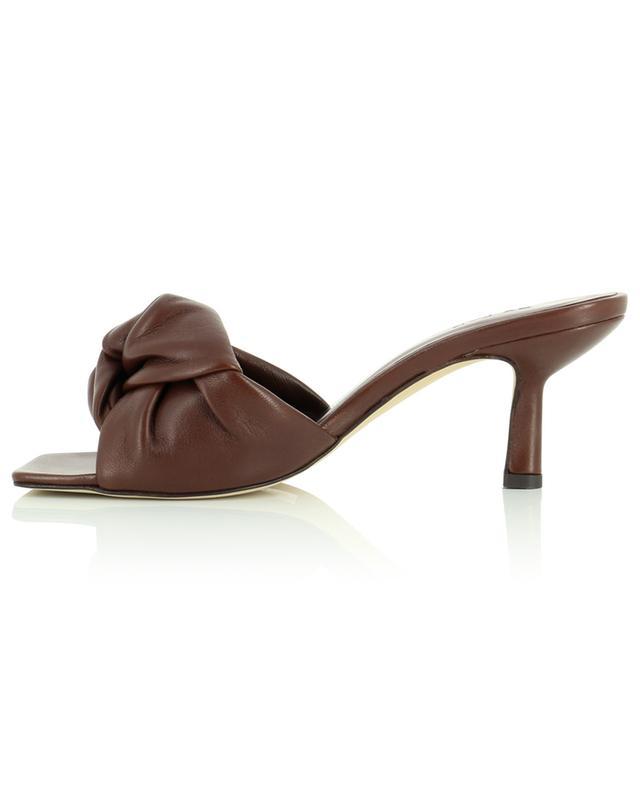 Mules en cuir brun nappa Lana BY FAR