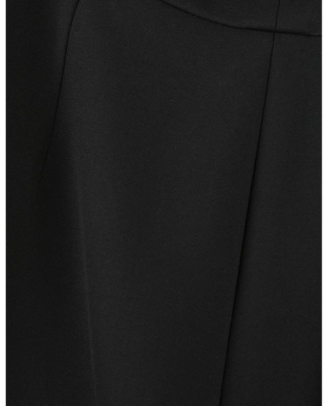 Pantalon large taille haute en crêpe Chieko AKRIS PUNTO