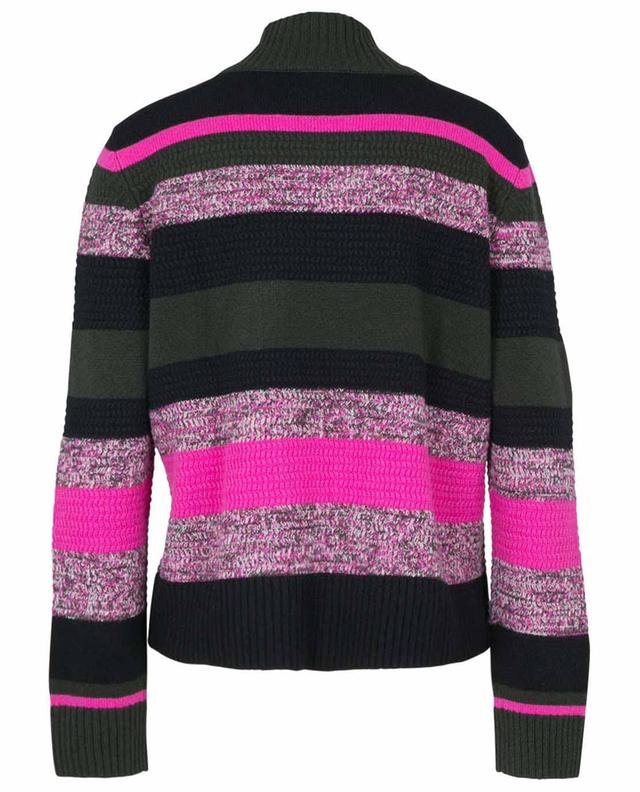 Pull rayé multicolore en laine et cachemire AKRIS PUNTO