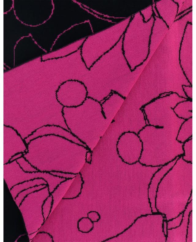 Écharpe en laine avec imprimé fleuri AKRIS PUNTO