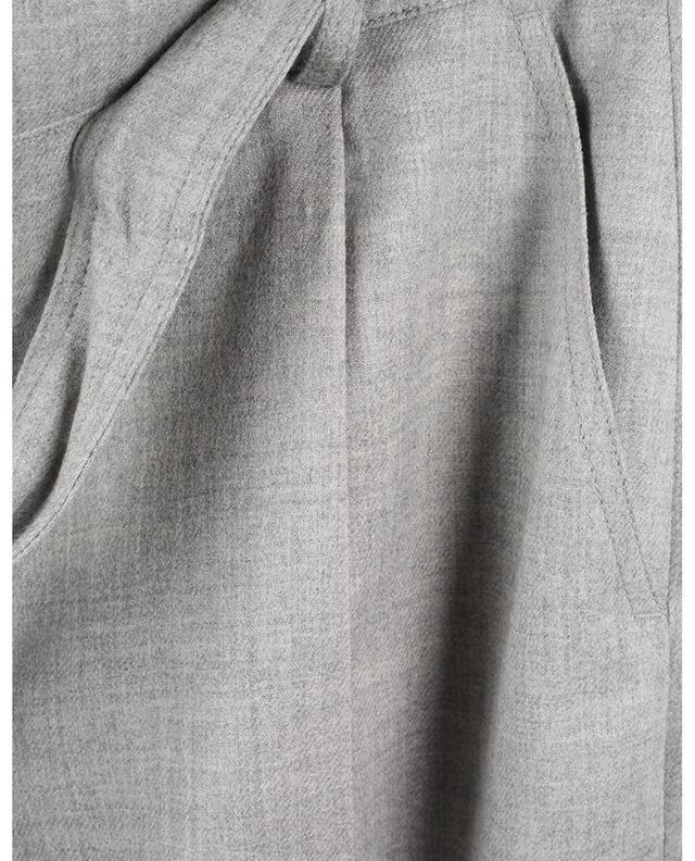 Pantalon carotte en flanelle de laine vierge Fred AKRIS PUNTO