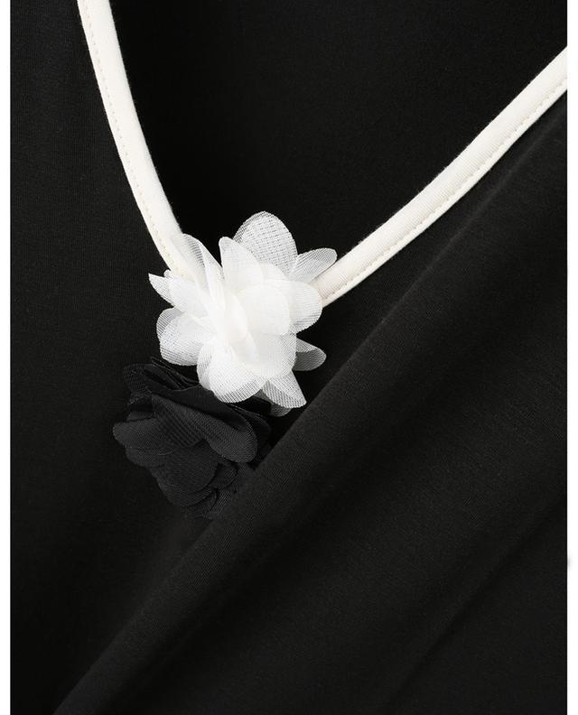 Chemise de nuit en jersey détail fleurs Roses Tunica BLUE LEMON