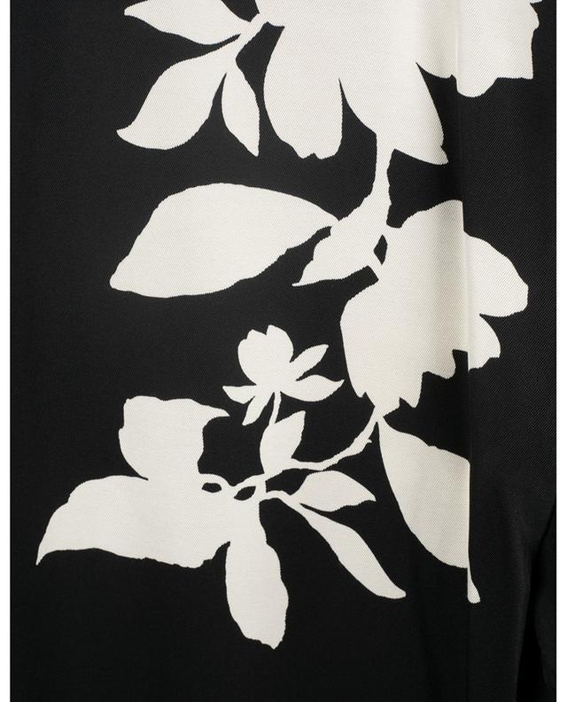 T-shirt en sergé imprimé fleurs VINCE