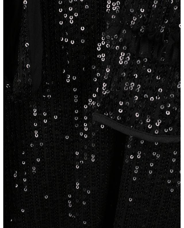 Robe trapèze courte brodée de sequins PRINCESS