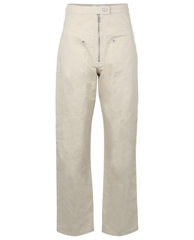 Hose aus Baumwolle und Leinen mit hohem Bund Phil ISABEL MARANT ETOILE