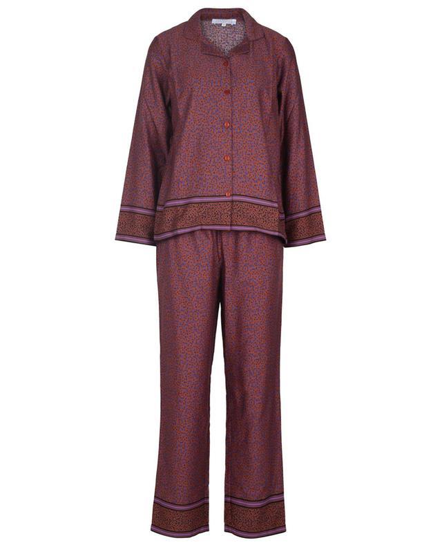Pyjama en coton imprimé léopard Entrechats LAURENCE TAVERNIER