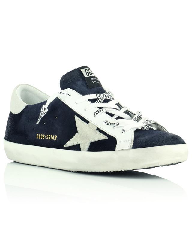 Baskets en daim bleu marine étoile grise Super-Star Classic GOLDEN GOOSE