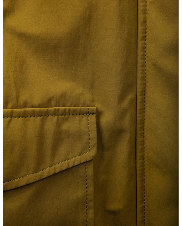 Parka légère à capuche en coton technique WINDSOR