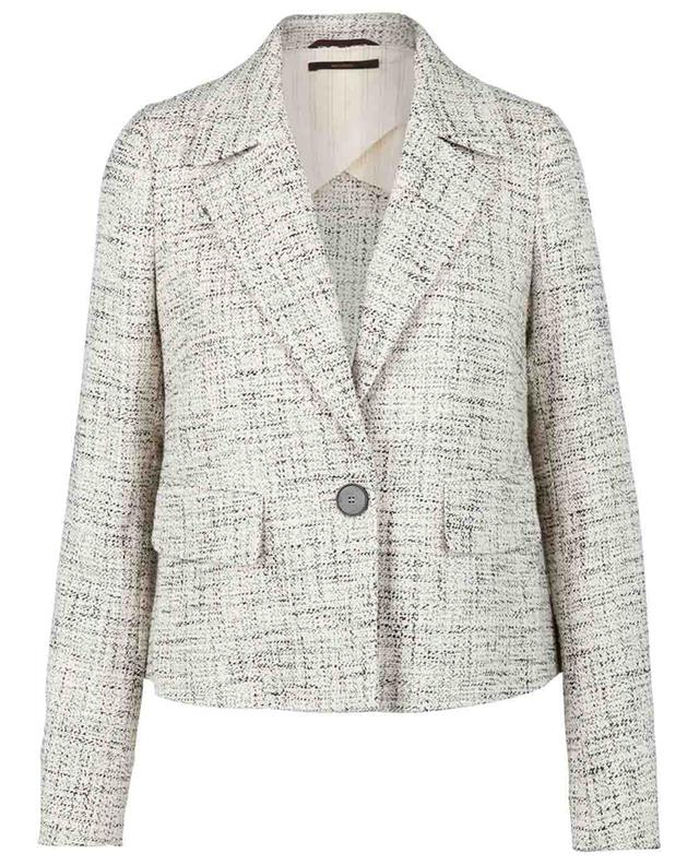 Veste de costume courte en coton effet tweed WINDSOR