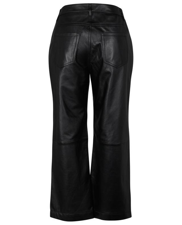 Pantalon large en cuir à taille haute WINDSOR